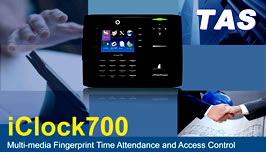 Iclock 700 Multi-media Fingerprint Time Attendance