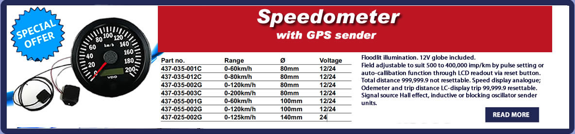 speedometer with gps sender